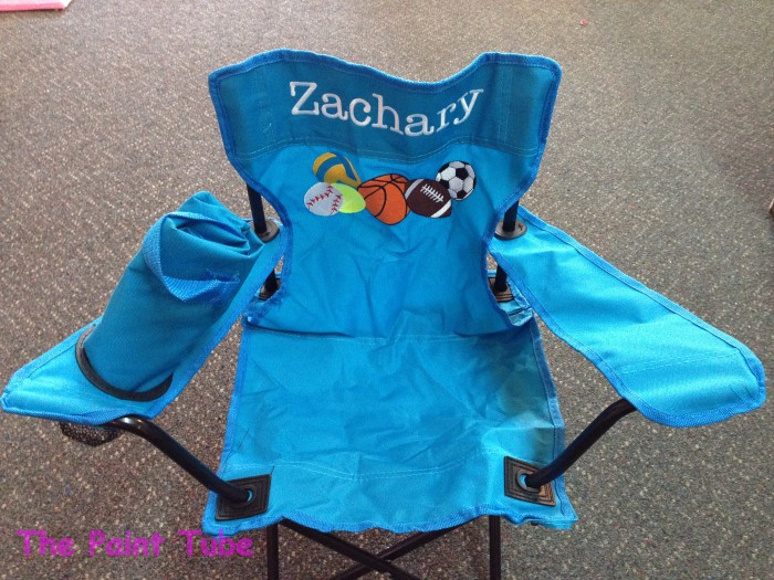 Seating the paint tube custom baby gifts painted canvas folding chair negle Gallery