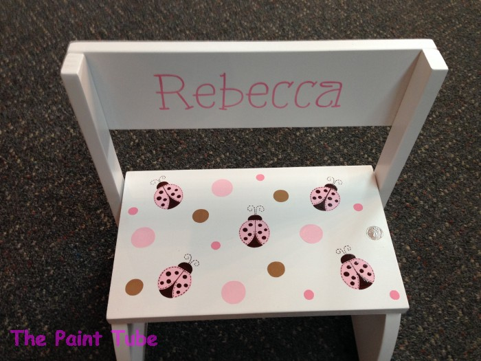 Stools benches the paint tube custom baby gifts painted rebecca ladybugs theme stepstool negle Image collections